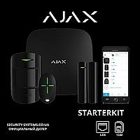 [IP КАМЕРА В ПОДАРОК] Ajax StarterKit Black — комплект беспроводной сигнализации