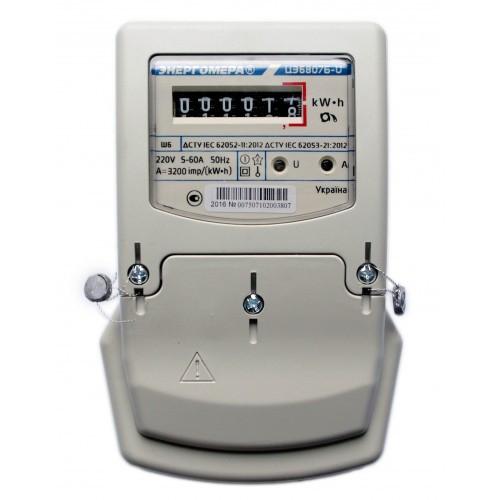 Счетчик электроэнергии ЦЭ6807Б-U М6Ш6 220В 5(60)А Однофазный, однотарифный