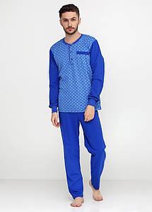 Мужская пижама с начесом синего цвета