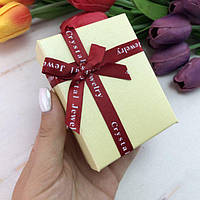 """Подарочная коробочка """"Jewel"""" молочная"""