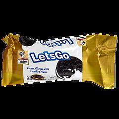 Печенье Lets'Go сэндвич шоколадное с ванильным кремом 36г 1ящ/24шт