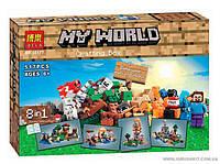"""Конструктор Minecraft """"Верстак. 8 в 1"""" 517 деталей Bela 10177"""