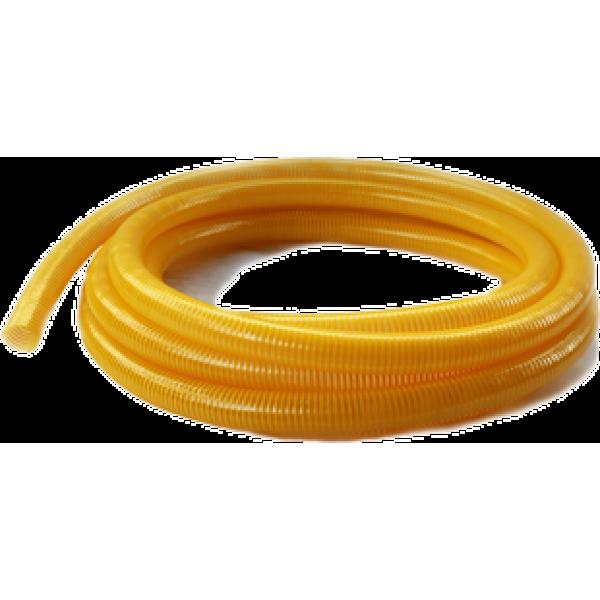 Гофра ПВХ 25 мм вакуумно-напорная желтая