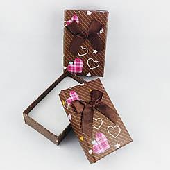 """Подарочная коробочка """"Сердечки"""" цвет коричневый"""