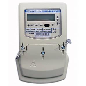 Счетчик электроэнергии CE102-U S6 145-AV 220В 5(60)А Однофазный, многотарифный, фото 2