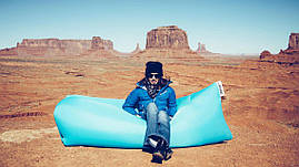 Ламзаки надувний диван Китай блакитний