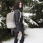 Стильный женский городской рюкзак 3 в 1 в скандинавском стиле тканевый 01036, фото 3