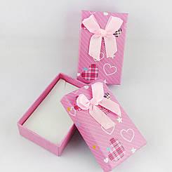 """Подарочная коробочка """"Сердечки"""" цвет розовый"""