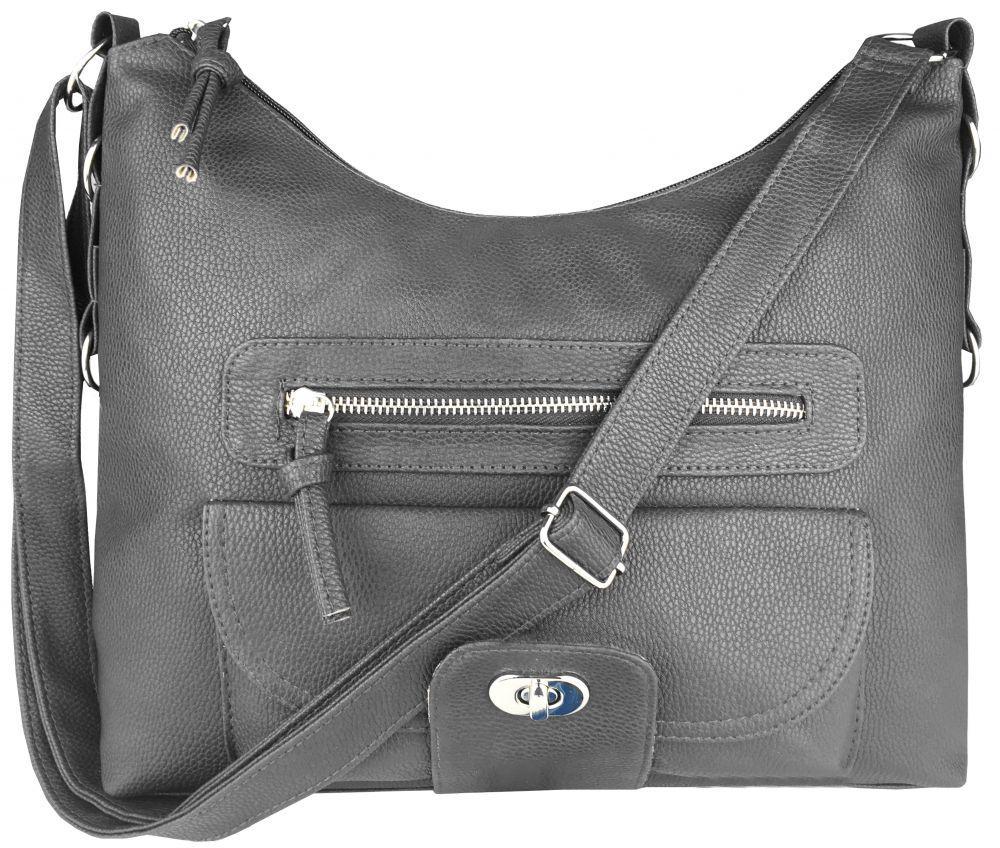 3493ff86b653 Модная серая женская сумка на плечо на длинном ремешке пр. Польша 24211 NY