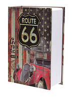 Книга-сейф MK 1849-6 (Route 66) с замком, металл, фото 1