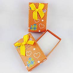 """Подарочная коробочка """"Сердечки"""" цвет оранжевый"""