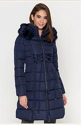 Куртка удлиненная женская Braggart Tiger Force синяя топ реплика