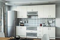 Кухня Импульс 2.8 м Белый/Алюминий (Світ Меблів ТМ)
