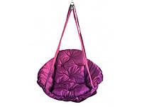 Подвесная детская качеля Гамак 100 кг 80 см Фиолетовый