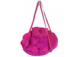 Підвісна дитяча гойдалка Гамак 100 кг 80 см Рожевий