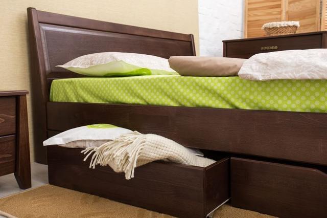 Кровать двуспальная Сити с ящиками филенка изголовье (фото 3)