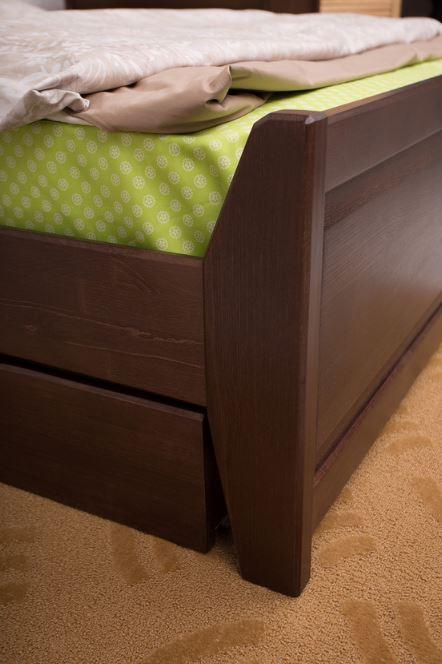 Кровать двуспальная Сити с ящиками филенка (изножье)