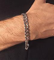 Чоловічий браслет зі срібла Beauty Bar 21,5 см панцирні плетіння 39,4 грам