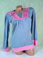 Кофта серо розовая LN-6024, фото 1