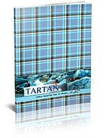 """Блокнот """"Тартан"""" А5, 80 листов, клетка, голубой"""