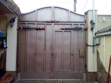 Установка автоматики для распашных ворот FAAC GENIUS MISTRAL 400 LS