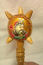 Булава розписна із зображенням Богдана Хмельницького