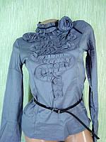 Блузка с брожью и поясом цвет только серый KH-9270 XXL XL L, фото 1