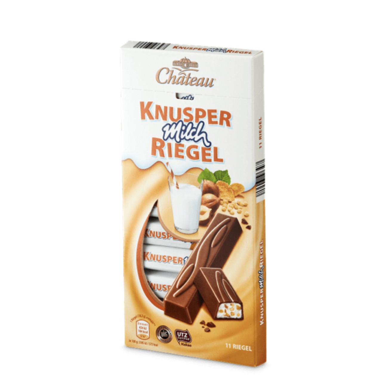 Шоколад Château Knusper Milch Riegel молочный дробленый фундук+воздушный рис 200г