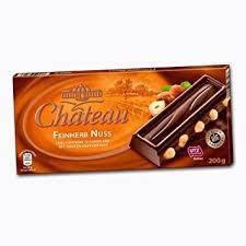 Шоколад Château Feinherb Nuss черный с цельным орехом 200г, фото 2