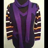 Кофта-туника женская с шарфиком размер 48-50, фото 1