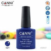 Гель-лак CANNI № 021 (полуночно-синий)