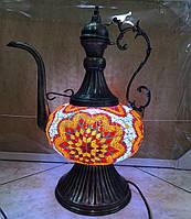 Настольный турецкий светильник большая лампа Алладина Sinan из мозаики ручной работы 50 см, фото 1