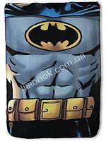 Флисовый плед Бэтман от DC Comics 100*150см в кроватку, коляску, коврик для игр