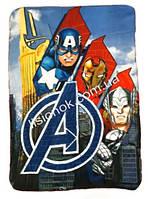 Флисовый плед супер-Герои Avengers от Marvel 100*150см в кроватку, коляску, коврик для игр