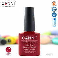 Гель-лак CANNI № 027 (темно-красный)