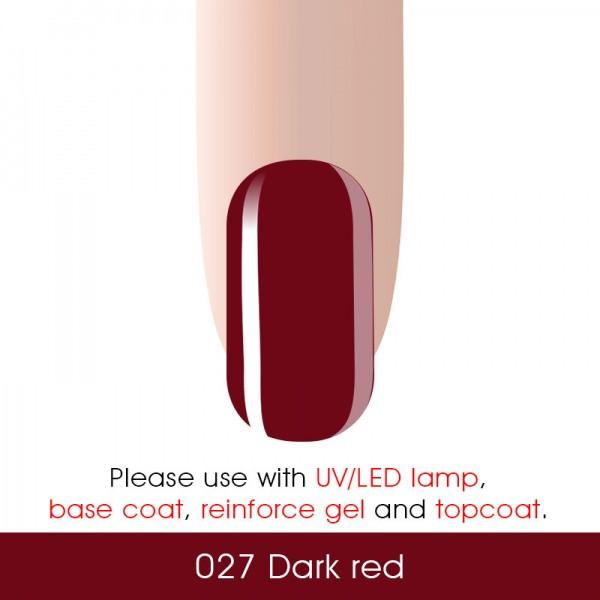 Гель-лак CANNI № 027 (темно-красный) - фото 2