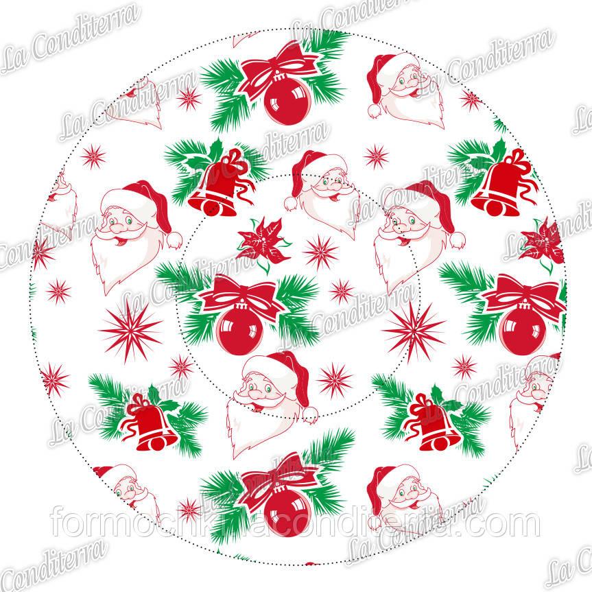 """Формочки для пирожных и эклеров """"Санта-Клаус"""" P-8 (Ø80*35, бортик – 30 мм), 2000 шт."""