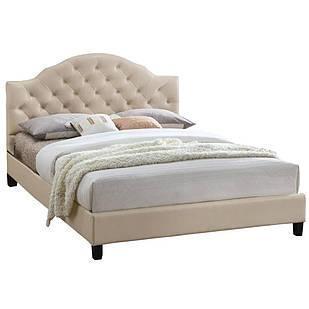 Ліжко з ДСП/МДФ в спальню Меріленд двоспальне (беж) Domini