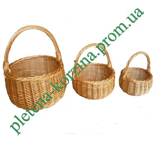 Набор корзинок из лозы «Болерка» 3шт. Арт.404-3, фото 2