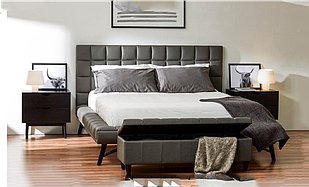 Ліжко двоспальне 160*200 в спальню з масиву гевеї/МДФ Наомі Domini