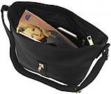Модная черная женская сумка на плечо на длинном ремешке пр. Польша FB215, фото 4