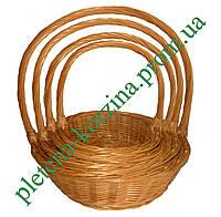 Набор подарочных корзин из лозы 4шт. Арт.405-4