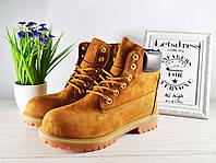 ✅ Женские ботинки Timberland кожаные ТЕРМО Тимберленд бежевые, коричневые 38