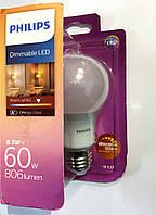 Лед лампа Philips 8.5W E27 (под диммер)