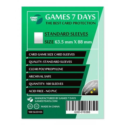 Протекторы для карт Games 7 Days 100 шт. (63.5 х 88 мм) Standard Quality