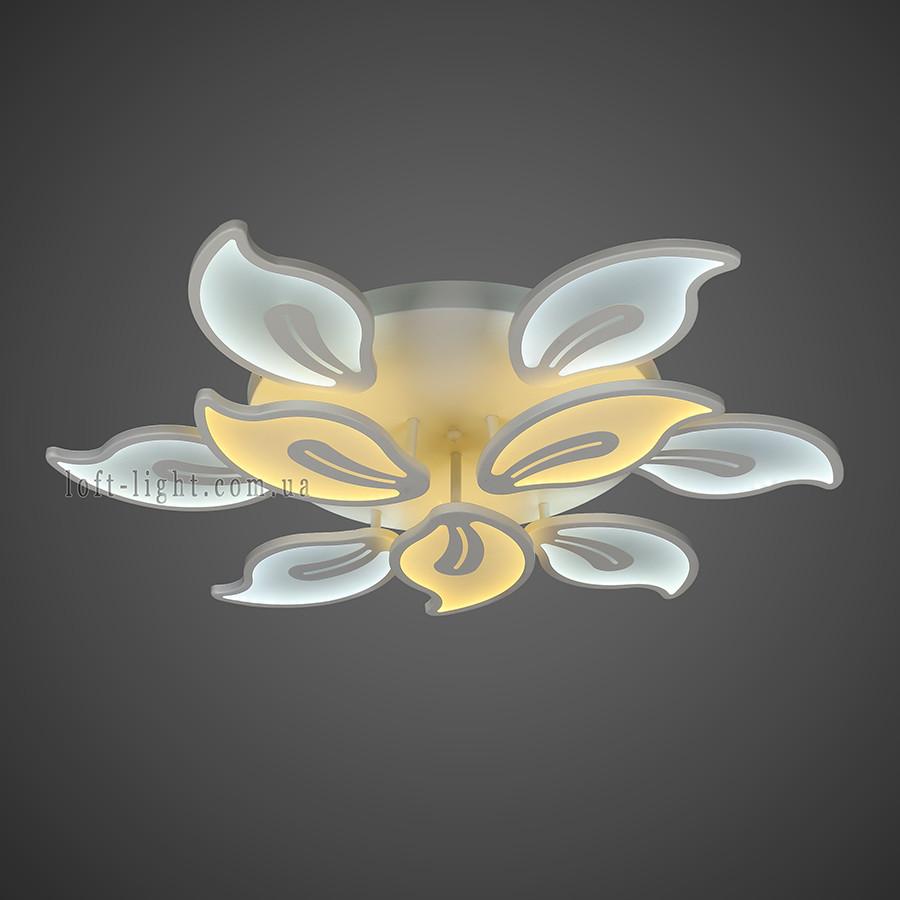 Люстра потолочная светодиодная   55-MX10017-6+3 WH LED