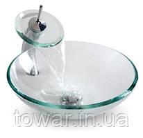 Мойка стеклянная 710159 ( с краном)