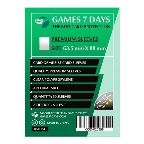 Протекторы для карт Games 7 Days 50 шт. (63.5 х 88 мм) Premium Quality