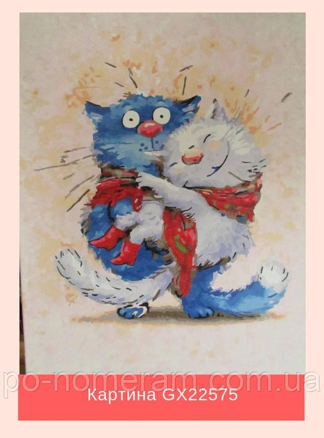 Отзыв о картинах по номерам с синими котами