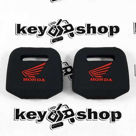Чехол (черный, силиконовый) для мото ключа Honda (Хонда), фото 2